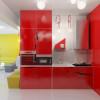 cocinas-integrales-pequenas-moderna-roja
