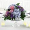 Centros de mesa con flores frescas o flores naturales