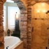foto-baño-rustico-bañera-piedra