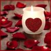 Velas románticas para San Valentín