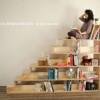 Biblioteca con escalera