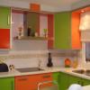Colores fuertes en la cocina