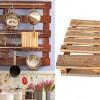 Fabrica un soporte para la cocina con un palet