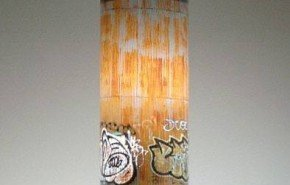 Lámparas con graffitis