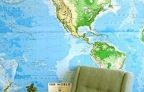 Vinilos decorativos mapas