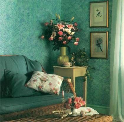 Habitación pintura trapeada