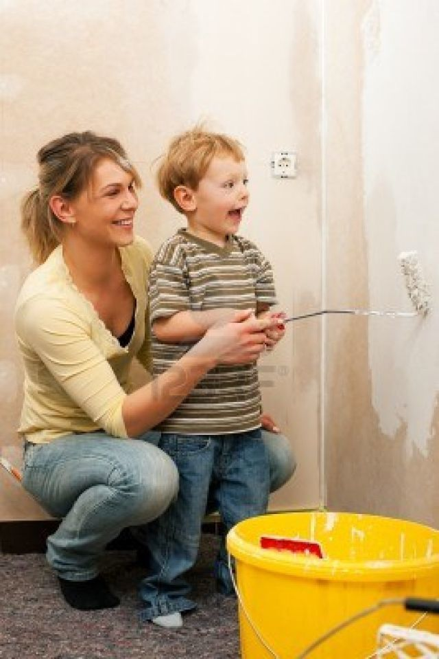 Pintar la casa en familia