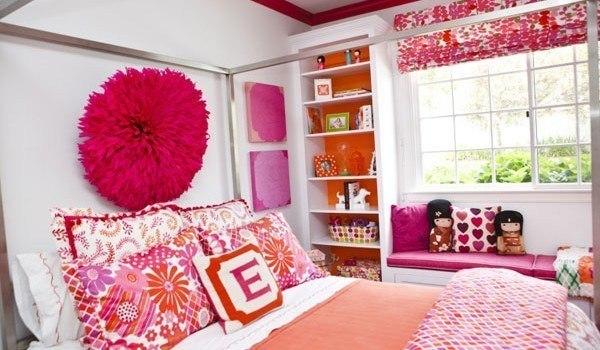 Rosa y blanco en las habitaciones
