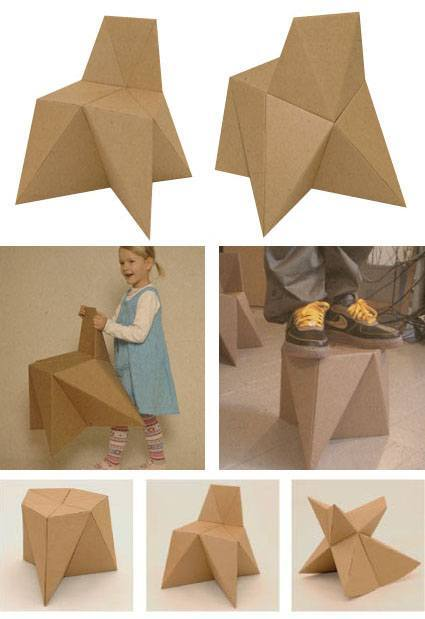 Foldschool muebles infantiles de cart n gratis for Muebles de carton pdf