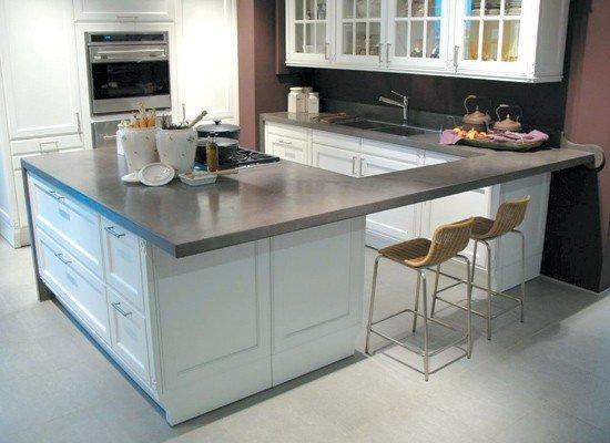 Pisos de cemento alisado - Microcemento en cocinas ...