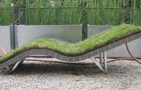 Lawnchair. Chaise lounge de hierba