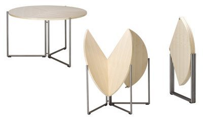 Muebles plegables la soluci n para casas peque as - Mesa de comedor plegable a la pared ...