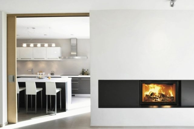 Fireplaces-modern-on-a-wall-partition