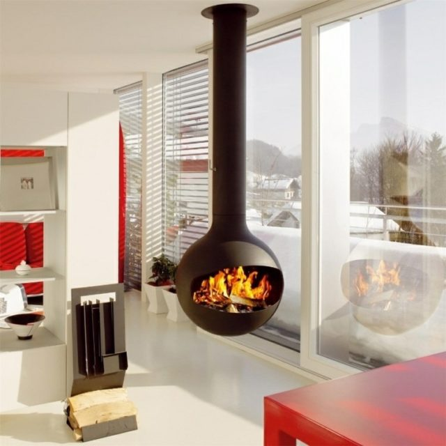 Ms de 100 ideas con Fotos de Salones con Chimeneas Modernas