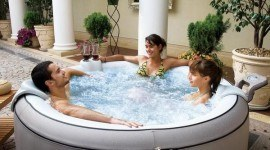 Jacuzzi inflable y transportable
