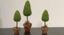 Centros de mesa navideños en forma de pino