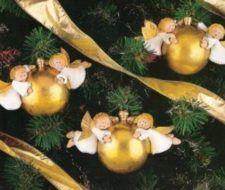 Bolas con ángeles para el árbol de Navidad