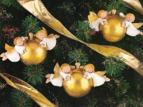Bolas con ngeles para el rbol de Navidad