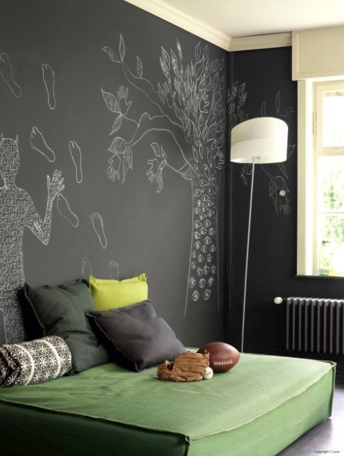 pintura de pizarra para el dormitorio adulto