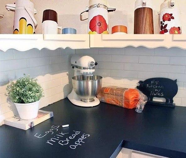 Pizarras para la cocina awesome imagen vinilo pizarra - Pizarra para cocina ...