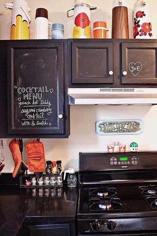 Pinturas de pizarra ideas y usos muy originales para decorar la casa - Carcoma en los muebles ...
