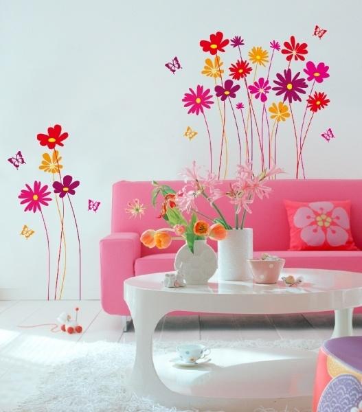 vinilos-para-san-valentin-decoracion-dos-flores-de-colores-salon