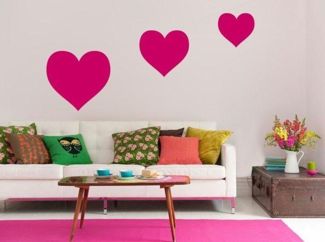 vinilos-para-san-valentin-decoracion-varios-corazones