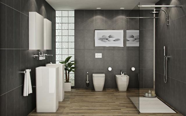 Más de 140 ideas para baños modernos 2019