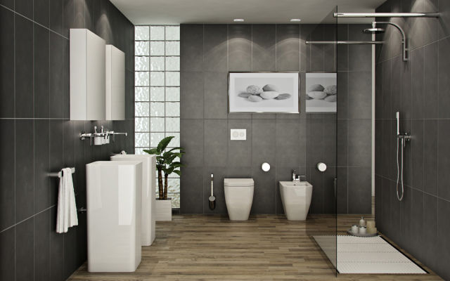 Modern-bathroom-design-furniture-and-gray-tiles