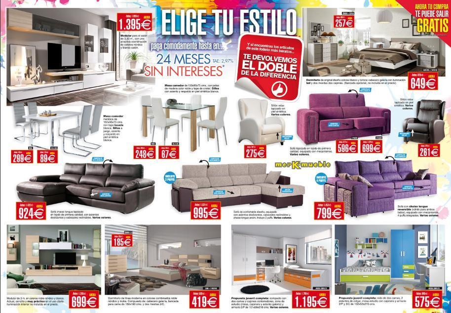 Rebajas y ofertas de verano de 2014 de merkamueble sofas muebles salon dormitorio - Muebles salon merkamueble ...