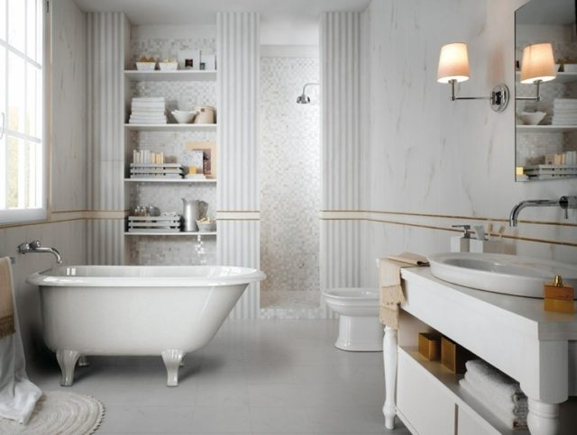 Azulejos para ba os de 115 fotos con ideas geniales - Bano azulejo blanco ...