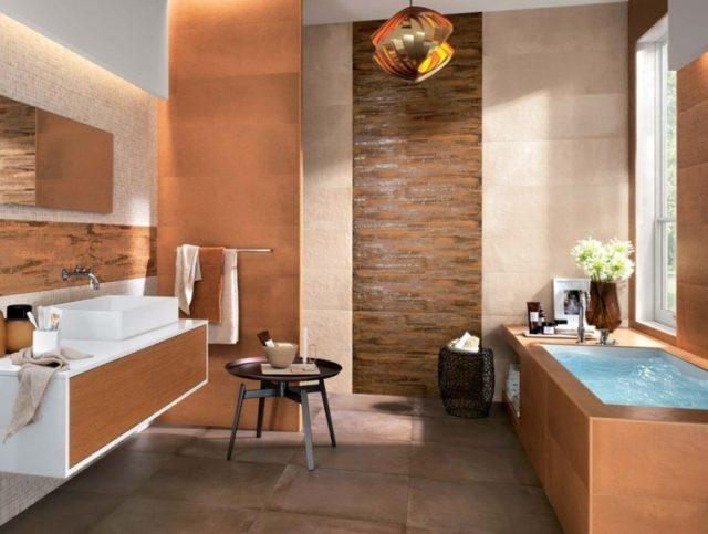 azulejos-de-banos-MODERNOS-baño-marron-naranja-aspecto-oxidado