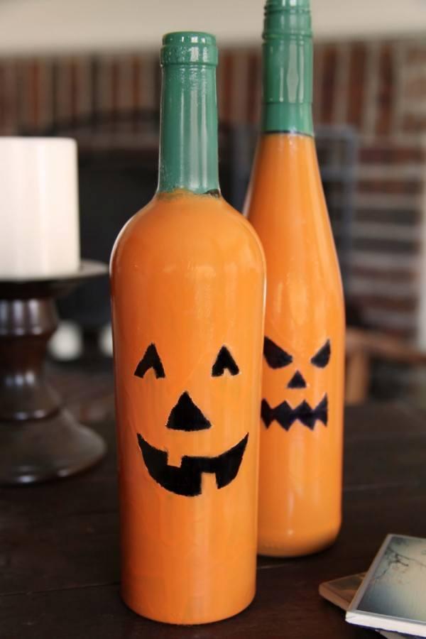 Decoracion halloween 2016 calabazas frascos - Decoracion calabazas halloween ...