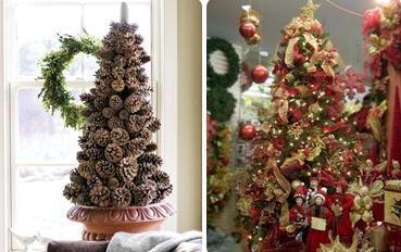De 300 fotos de arboles de navidad 2016 decorados y - Adornos para navidad con pinas ...