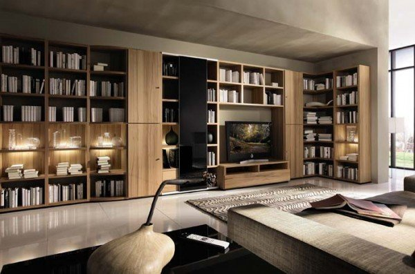 Bibliotecas dise o fotos for Diseno de libreros para espacios pequenos