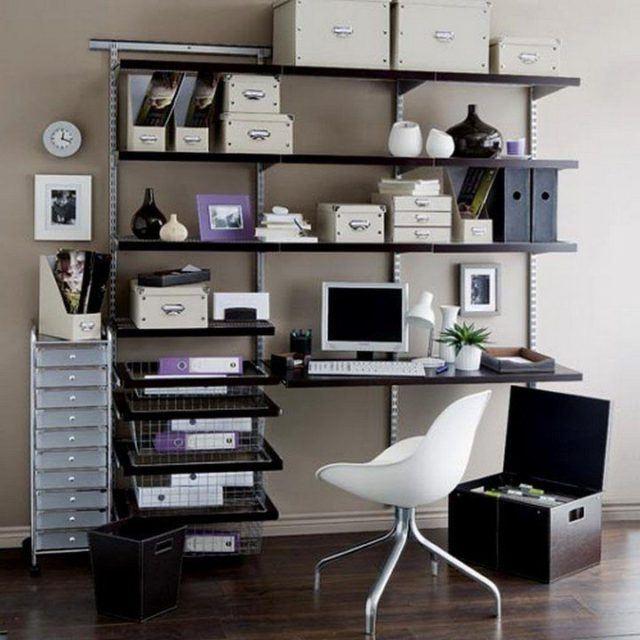 De 50 fotos de decoracion de oficinas peque as y modernas - Decoracion oficina pequena ...
