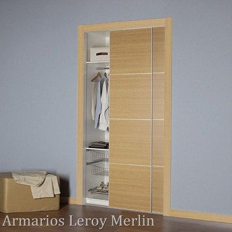 Armarios Leroy Merlin| puertas correderas Armario Leroy Merlin Sorolla en roble