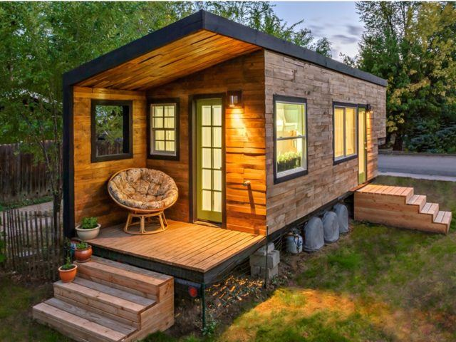 De 50 fotos de casas de madera modernas peque as y bonitas - Casitas pequenas de madera ...