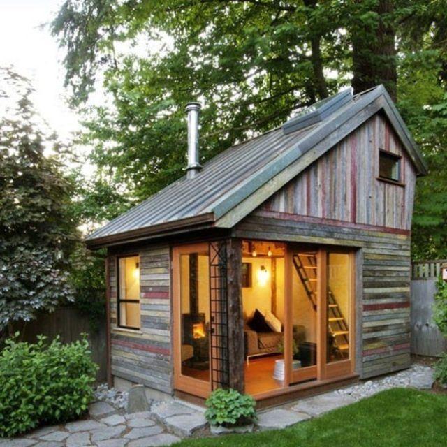 De 50 fotos de casas de madera modernas peque as y bonitas - Interior casas de madera ...