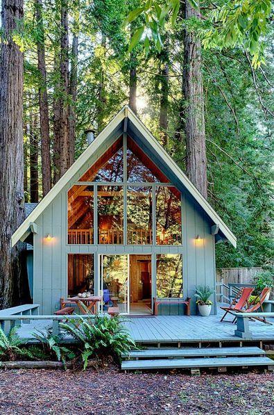 De 50 fotos de casas de madera modernas peque as y bonitas - Casas madera pequenas ...