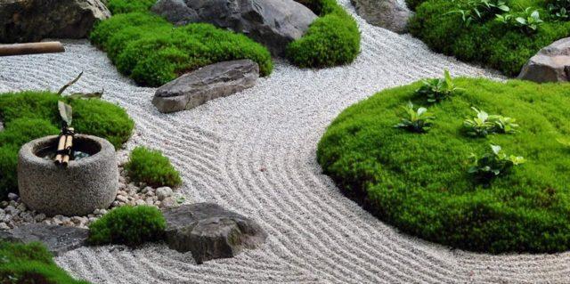 jardines-zen-moderno-musgo-y-arena