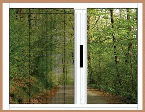 plisse-single-door