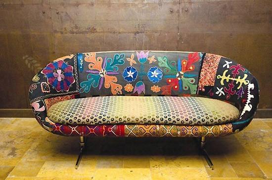 Decoraci n con sillones vintage - Telas para tapizar modernas ...