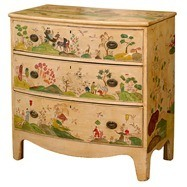 English-Bowfront-Chest-with-newly-applied-Chinoiserie-scene-Seller-Dearing-Antiques