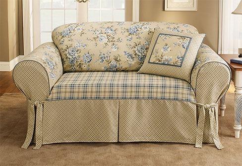 Fundas sofas fotos for Sofa estilo romantico