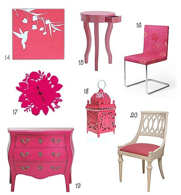 muebles rosa fotos