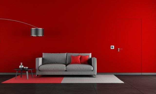 Pinturas para salon ideas modernas 2018 color rojo