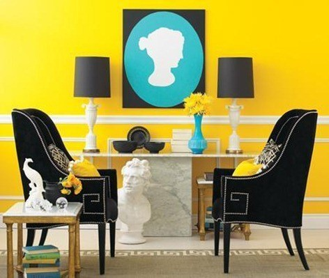 yellow-and-teal-decor