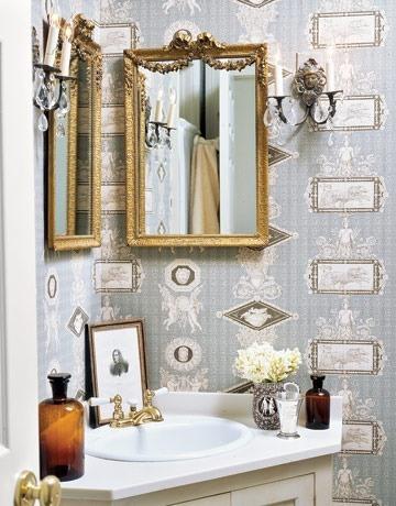 Espejos ba o rustico - Como decorar un bano rustico ...