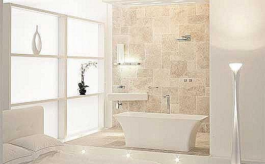 Decoracion Baño Blanco: blanco muebles de baño en blanco suelos de porcelanato en blanco o de